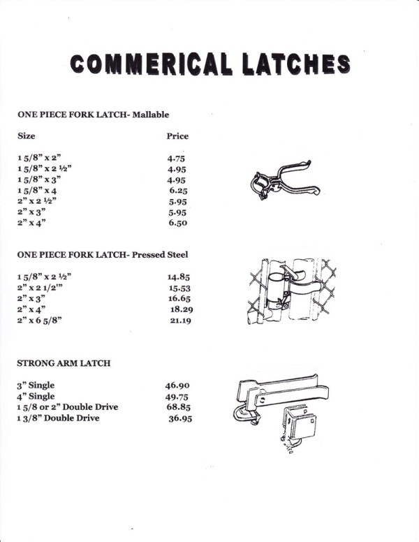 Commercial Latches