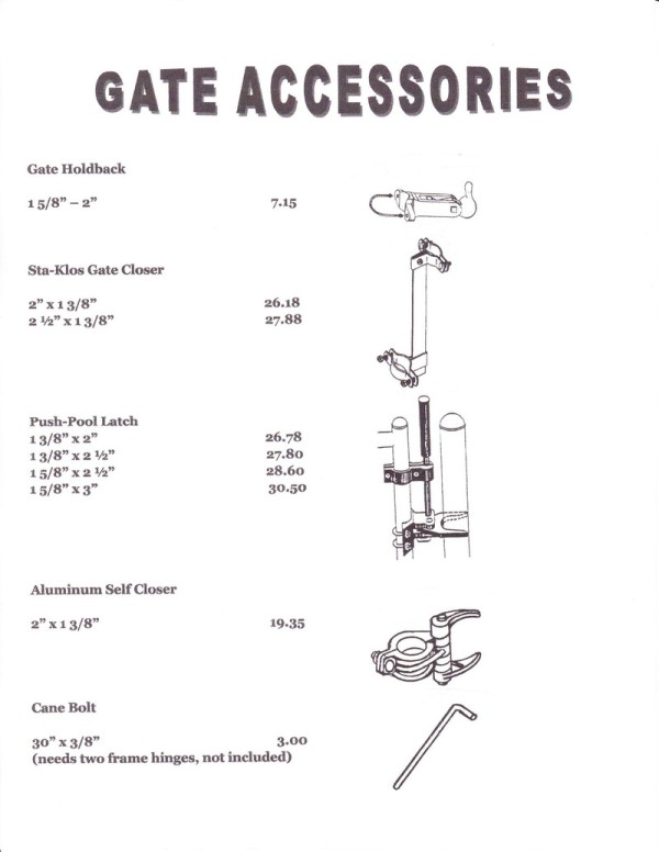 Gate Accesories